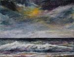 Wolken über dem Meer - Acryl auf Leinwand - 70x90 cm - 2013/2015/2019