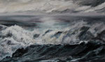 Brandung (2) - Acryl auf Leinwand - 60x100 cm (in Privatbesitz)