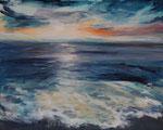 Sonnenuntergang (3) - Acryl auf Leinwand - 80x100 cm - 2014