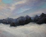 In den Bergen (3) - Acryl auf Leinwand - 80x100 cm - 2015