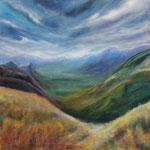 Alpenvorland - Acryl auf Leinwand - 50x50 cm - 2012 (in Privatbesitz)