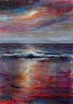 Sonnenuntergang (9) - Acryl auf Leinwand - 70x50 cm - 2018
