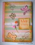"""Carnet pentru notiţe """"Live your dreams""""  (#0037)  Mărime: 12,5*17,5 cm  Preţ: 45 lei"""