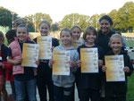 Schülerinnen C Gruppe 1  6.Platz Lilli, Elisabeth, Xenia, Teresa, Alessia, Karina, Sopia (nicht im Bild Barbara und Lisa)