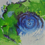 From space to earth - 90x90 cm