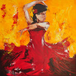 Flamenco 1 - 90x90 cm