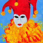 Masker Venetië 1 - 60x60 cm