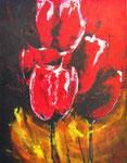 Tulpen rood - 70x90 cm