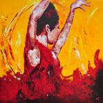 Flamenco 2 = 90x90 cm