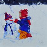 Sneeuwpret 2 - 100x100 cm