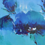 Korenblauw 1 - 60x60 cm