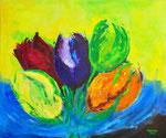 Tulpen in bloei - 120x100 cm