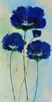 Blauwe tuin 50x100 cm