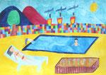 2014 『poolside』  36.4cm×51.5cm