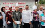 Les gagnants du coucours de cuisine.