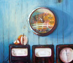 Zeit zu gehen, Acryl auf Nessel, 60 x x70 cm, 2012
