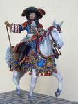 """LOUIS XIV, dit """"Le Roi Soleil - Figurine Plomb 90mm."""
