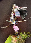 TOMOE GOZEN- Figurine Métal 75 mm. (2).