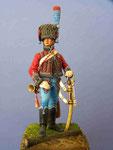 Trompette Chasseur à cheval de La Garde Impériale (1) - Figurine Plomb 54mm.