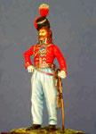 Officier des cosaques de la Garde Impériale 1805. Figurine Plomb 60mm.