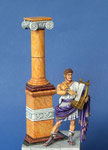 NERON Lucius Dominitius Ahenobarbus 37-68 ap J.C. (3-C) - Figurine Plomb 75 mm.