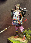 TOMOE GOZEN- Figurine Métal 75 mm. (1).