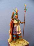 ATAHUALPA (1) dernier Empereur Inca - Figurine Plomb 75mm.