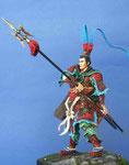 LÜ BU Seigneur de la guerre, Chinois de l'époque Han (IIème siècle de notre ère) - Figurine Plomb 75 mm.