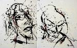 wir - Acryl auf Leinwand/zweiteilig/2009