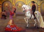 Flamenco, Pastellkreide auf Zeichenkarton, ca. 50 x 70 cm, Fotovorlage; Donna Summer, Paintmyphoto.ning
