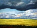 Storm, Pastellkreide auf Pastelmat, ca 30 x 40 cm; Foto: eigenes