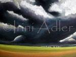Gewitterstimmung - Pastell auf Zeichenkarton, ca. 30 x 40 cm, sucht Wand