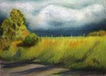 Thunderstorm, Pastellkreide auf Pastelmat, ca. 30 x 40 cm, Fotovorlage: eigene