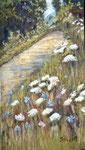 Weg am Herrenbachsee, Pastellkreide auf UArt-Paper, ca. 19 x 29 cm, Fotovorlage: eigene