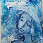 """Dame in blau"" F.S.Felgenhauer"