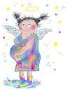 Babybauch-Engel