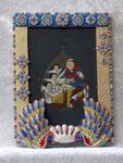 菩提樹絵はがきのイコン3(聖母子)
