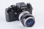 Nikon F3, Kleinbildkamera, Baujahr 1983, coole Profikamera. Neben dem  135er habe ich dazu noch ein sehr scharfes 50 mm F 1,4 Objektiv