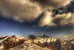 Giornata invernale sul Dosso d'Arla e il Poncione d Cabbio (HDR) , Valle di Muggio , Ticino , Svizzera. Info ; 3 foto unite in HDR+ un filtro 0.9 , Nikon D3S + 24-70mm 2.8