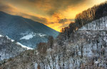 Tramonto invernale in Valle della Crotta (HDR) , Valle di Muggio , Ticino , Svizzera.   Info; 6 foto unite in HDR + un filtro degradante 0.9 , Nikon D3S + 24-70mm f2.8 Nikon a  24mm a f22 1/60 a ISO 100 su cavalletto