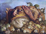 Yongbo Zhao: *Stimmen des Volkes I*, 2012, Öl/Leinwand, 180 x 240 cm