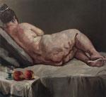 Pavel Feinstein *N 1524* (Die große Dicke), 2011, Öl/Leinwand, 120 x 130 cm