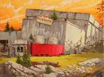 Hartmut Kiewert: *Ruine V, 2017, Öl/Leinwand, 60 x 80 cm