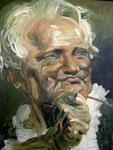 Johannes Grützke: *Alexander von Humboldt*, 2008, Öl/Leinwand, 100 x 80 cm