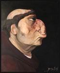 Yongbo Zhao: *Mönch*, 2004, Öl/Leinwand, 60 x 50 cm