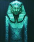Klaus Ritterbusch: *Amenemhet III (2)*, 1995, Öl/Aluminium, 74 x 60,5 cm