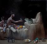 Pavel Feinstein: *N 1837* (Das Angebot), 2014 Öl/Leinwand, 190 x 200 cm