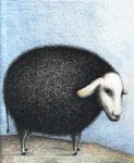 Piotr Kamieniarz: *Das schwarze Schaf*, 2005, Tusche, Feder, Farbstift/Papier, 23 x 32 cm