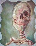 Bettina Moras: *Lachender*, 2008, Öl/Nessel, 50 x 40 cm