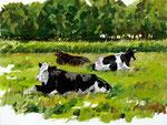 Hartmut Kiewert: *Weide* (Butenland 35), 2019, Öl/Leinwand, 30 x 40 cm